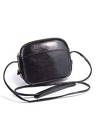 真皮小斜挎包肩包 女式手机钱包和手提包