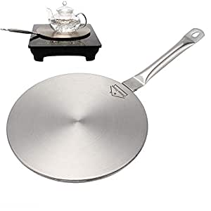 "Anmas Home 感应炉 炉灶 不锈钢罩盘 带耐热手柄 银色 Medium(8.23""/20.90cm) CF-8"