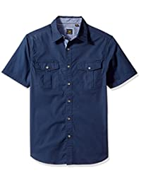 Lee 男式弹力短袖衬衫