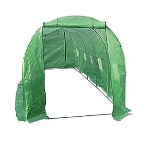 Relaxdays 塑料温室用防水布罩,适用于种植植物,镀锌钢材质