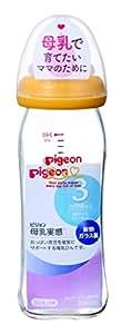 Pigeon  奶瓶 耐热玻璃制 橙黄色 240ml 0个月及以上(附属乳头3个月大左右使用)可支持母乳育儿