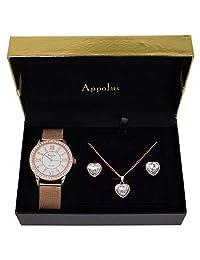 appolus GIFTS for 女式/妈妈/WIFE/女友/girl- 手表项链耳环戒指套装