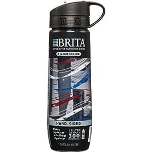BRITA 碧然德 过滤水杯(包括1个过滤器),硬壳,不含BPA,Americana,23.7盎司(约670ml)
