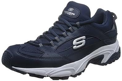 Skechers 斯凯奇 SPORT系列 男 生活休闲鞋 休闲绑带运动鞋 666028-NVY 海军蓝色 41 (US 8)