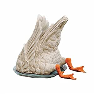 Design Toscano 鸭鸭子鹅潜水鸟雕像