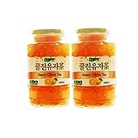 KJ蜂蜜柚子茶 纯度75%  1千克x2瓶(韩国)