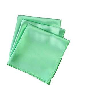 Mds 100 个婚礼缎面 30.48 厘米 X 30.48 厘米方形餐巾或手帕,用于婚礼宴会装饰 - 白色 薄荷绿 50 50_satin napkin FBA_Mint