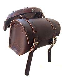 HERTE 真皮自行车鞍包工具套件实用复古打蜡棕色车把