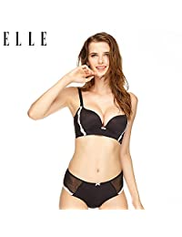 ELLE 内衣小胸聚拢无钢圈文胸套装美背性感舒适无痕调整收副乳内衣套装胸罩女文胸