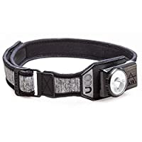 UCO Air 150 Lumen 轻型可充电 LED 头灯,带可变亮度表盘控制和可调节表带