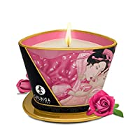 SHUNGA 春画香薰按摩蜡烛 调情玫瑰170ml 低温蜡 可持续点燃约40小时 香薰精油按摩 (加拿大进口)