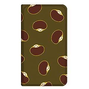 智能手机壳 手册式 对应全部机型 薄型印刷手册 cw-029top 套 手册 蘑菇 超薄 轻量 UV印刷 壳WN-PR332410-MX Xperia Z3 401SO 图案C