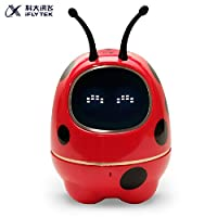 科大讯飞 金龟子智能机器人儿童教育陪伴语音交互益智故事机 红色