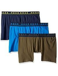 HUGO BOSS 雨果博斯男式 3 条装棉质弹力平角内裤
