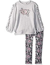 Calvin Klein Jeans 女童 2 件套束腰外衣紧身裤套装