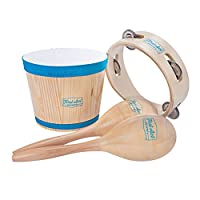 First Act Discovery Percussion Pack,Bongos,Maracas 和Tambourine (FAD0141)