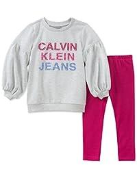 Calvin Klein 女童2件紧身套装