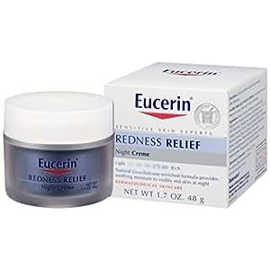 Eucerin 晚霜 温和补水 减少夜间易红的肌肤 1.7盎司(48g)