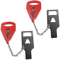Fivebop 便携式门锁 个人防盗锁 便捷轻便耐用*锁 自卫私密家居酒店度假(传统)