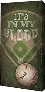 """PrintArt GW-POD-65-MA2130A-10x20 """"Baseball-In My Blood""""由 Marla Rae 画廊装裱艺术微喷油画艺术印刷品 6"""" x 12"""" GW-POD-65-MA2130A-6x12"""