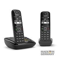 Gigaset 电话 电话 电话AS690A Duo 2 Telefone mit Anrufbeantworter 黑色