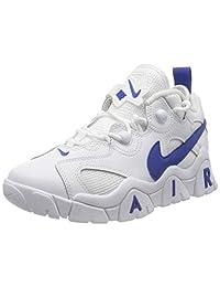 Nike 耐克 男童 Air Barrage Low (Gs) 篮球鞋,白色蓝色