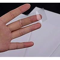 自粘透明迷你地址标签 2.54cm X 6.99cm 适用于打印机,每张 A4 纸 30 个标签,每包 10 张,300 个光面水晶透明地址标签