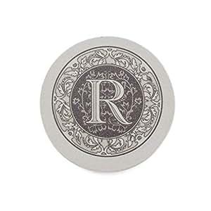 Thirstystone Drink Coaster Set, Monogrammed Letter R