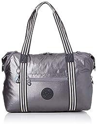 Kipling 凯浦林艺术 M 帆布和沙滩手提包,58 厘米,26 升,黑色(碳金属)