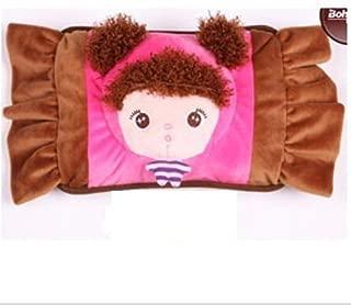 红兔子 卡通毛绒防爆充电热水袋暖手宝创意 暖水袋电暖宝暖手袋暖宝宝 暖手宝 暖脚宝 Q5110糖果粉毛娃娃