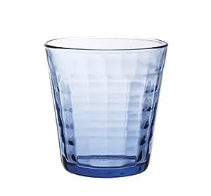 Duralex 法国制造棱镜海洋杯(4 件套),蓝色 透明 9.62 oz 1033BC04