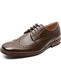 ZRIANG 男式正装鞋开普托布洛克皮革内衬系带牛津鞋