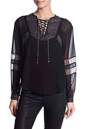 THE kooples 系带图案衬衫适用于女式黑色 XS