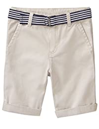 Gymboree 男孩小腰带斜纹短裤