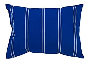 Mansion Striped Outdoor Pillow 亮蓝色 14 x 20 in.