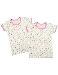 Baby Story 2件套 印花半袖圆领衬衫 T11134-2 日本制造 粉色 80