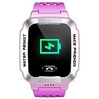 小天才电话手表Y01A 浅紫色 儿童智能手表360度安全防护 学生定位手机 儿童电话手表 儿童手机 女孩(亚马逊自营商品, 由供应商配送)