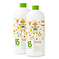 Babyganics Foaming Dish and Bottle Soap Refill, 32 Ounce (Pack of 2) 柑橘 Citrus, 32oz Bottle (Pack of 2) 32 液盎司(两袋装) 64