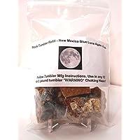 Rock Tumbler 宝石补充包 新墨西哥蓝月亮玛瑙粗糙玉髓,8盎司