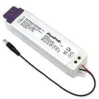 PLUSPOE 50W 可调光 LED 驱动器,110V AC-12V 直流变压器电源适配器,0-* 调光,与Lutron 兼容,Leviton 调光器,适用于 LED 胶带橱柜照明