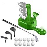 Sport Games 高尔夫玩具套装,儿童高尔夫球杆,儿童高尔夫套装,幼儿高尔夫套装,儿童运动玩具,幼儿运动玩具,儿童、男孩、女孩的户外运动玩具,包括高尔夫俱乐部等