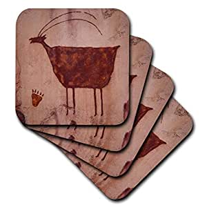 danita delimont–petroglyphs–美国,犹他州, moab , petroglyphs–us45pwa0004–Patrick J. 墙–杯垫 Not Applicable set-of-8-Soft