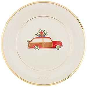 Lenox 假日装饰盘,旅行车