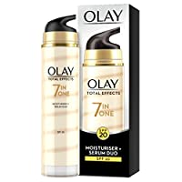 Olay 7-in-1 Total Effects Anti-Ageing Moisturiser and Serum Duo SPF 20, Fights The 7 Signs of Ageing for Radiant Skin, 40 ml