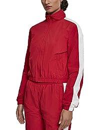 Urban Classic 女士短条纹褶皱运动夹克