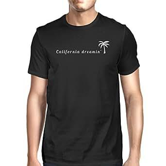 365 Printing California Dreaming Mens Black T-Shirt Lightweight Summer Shirt