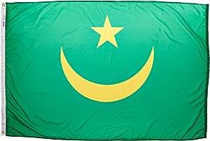 Annin Flagmakers 尼龙太阳镜 Nyl-Glo 毛里塔尼亚国旗 4x6 ft. 195567