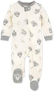 Burt's Bees Baby Baby 婴儿睡觉和玩耍,*连体衣连体衣睡衣,前拉链连脚睡衣,情侣羊,6-
