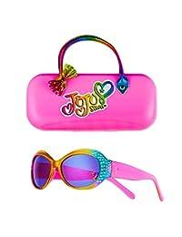 儿童太阳镜 - 女孩 * 紫外线太阳镜 W 附赠 FUZZY 手提箱,紫红色,褐红色,褐红色,褐红色,褐色调 多色 儿童 JJCS1PNK