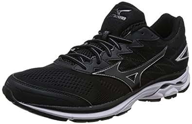 Mizuno 美津浓 男 跑步鞋 WAVE RIDER 20 J1GC170312-295 黑/黑/白 45